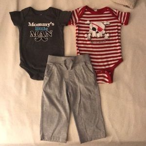 Baby toddler boy shirt and pants bundle 18 months